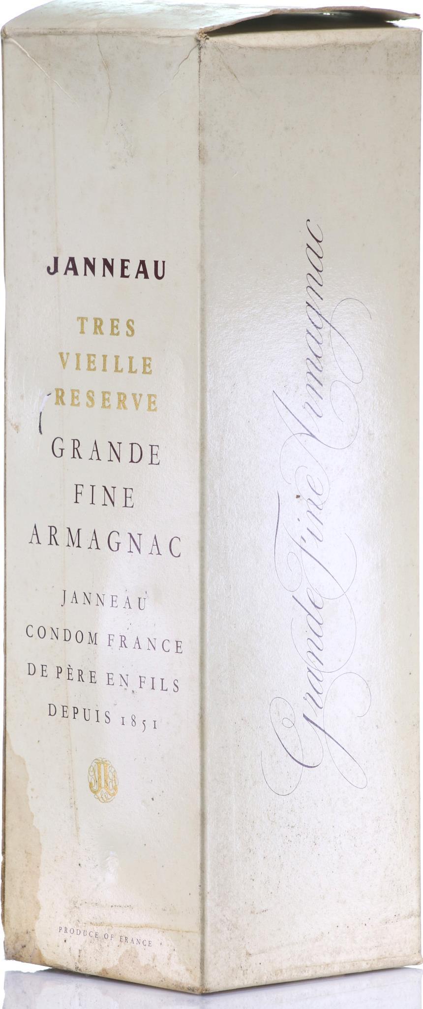 Armagnac Janneau Tres Vieille Réserve