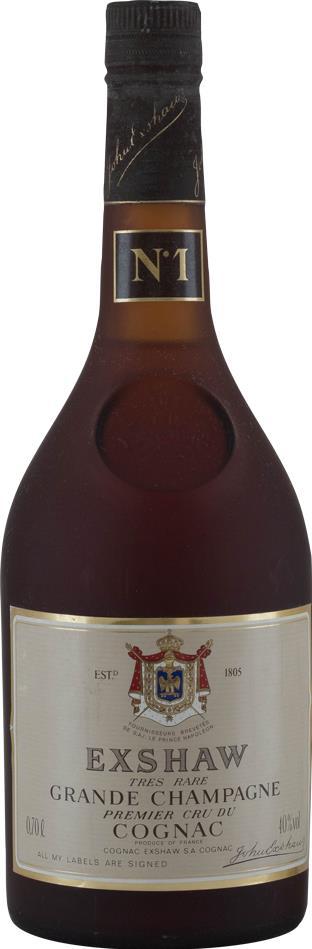 Cognac John Exshaw No.1, 15 YO  Grande Champagne 1980s