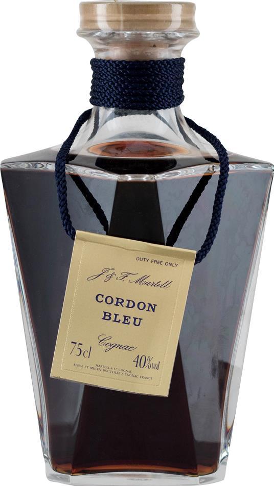 Cognac Martell Cordon Bleu Carafe Baccarat Old Liquors