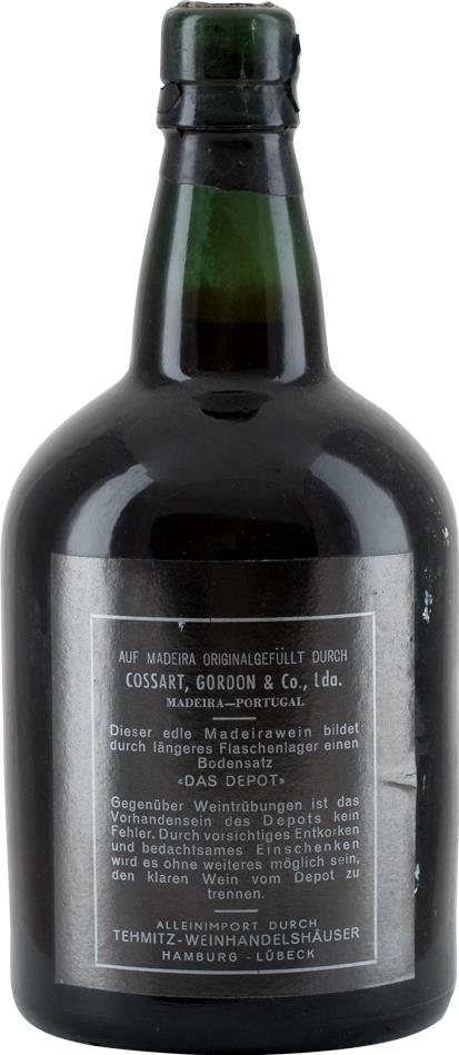 Madeira 1915 Cossart Gordon & Co Solera