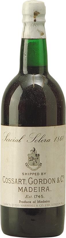 Madeira 1860 Cossart Gordon & Co (2118)