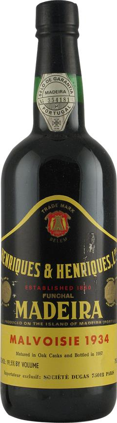 Madeira 1934 Henriques & Henriques, Bottled in 1987 (2147)