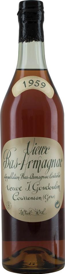 Armagnac 1959 Goudoulin Veuve (10309)