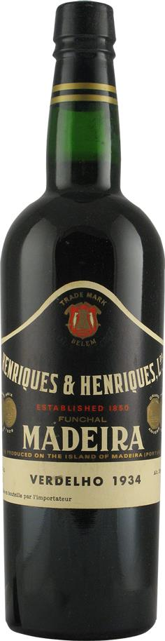 Madeira 1934 Henriques & Henriques, Verdelho (2153)