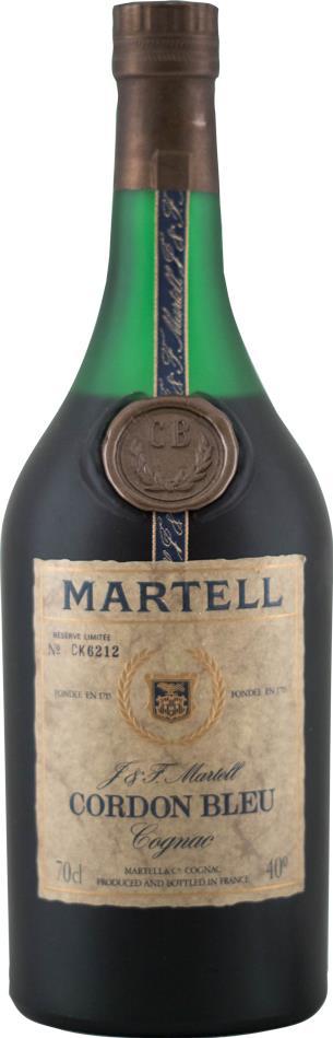 Cognac Martell Cordon Bleu, Réserve Limitée 1970s (10438)