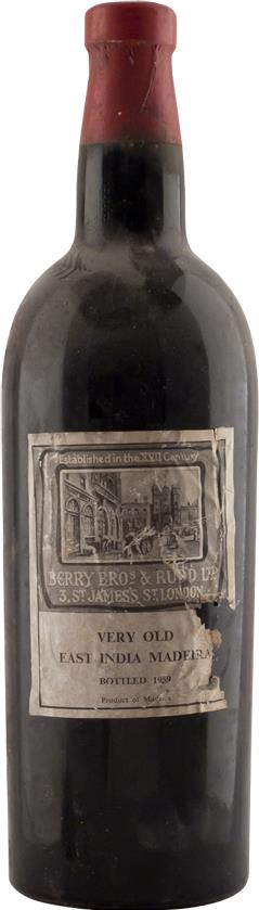 Madeira 1860 Berry Brothers & Rudd, Very Old East India Madeira (2185)