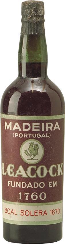 Madeira 1870 Leacock's Bual Solera (2224)