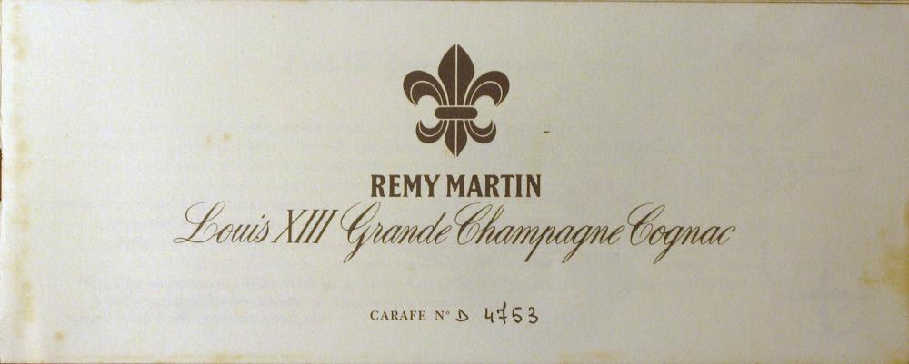 COGNAC LOUIS XIII BY RÉMY MARTIN 1980s