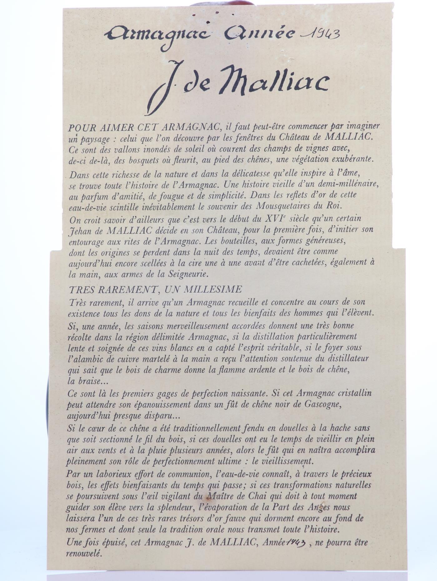 Armagnac 1943 Malliac