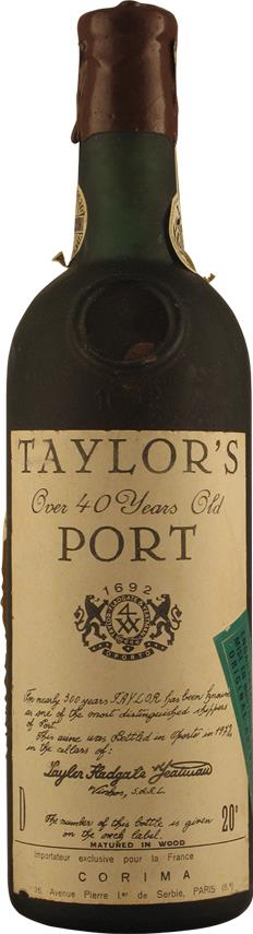 Taylor Fladgate 40 Year Old Tawny Bottled 1972