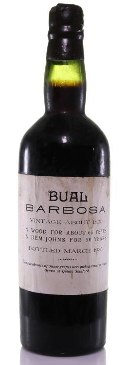 Madeira 1820 Barbosa Bual