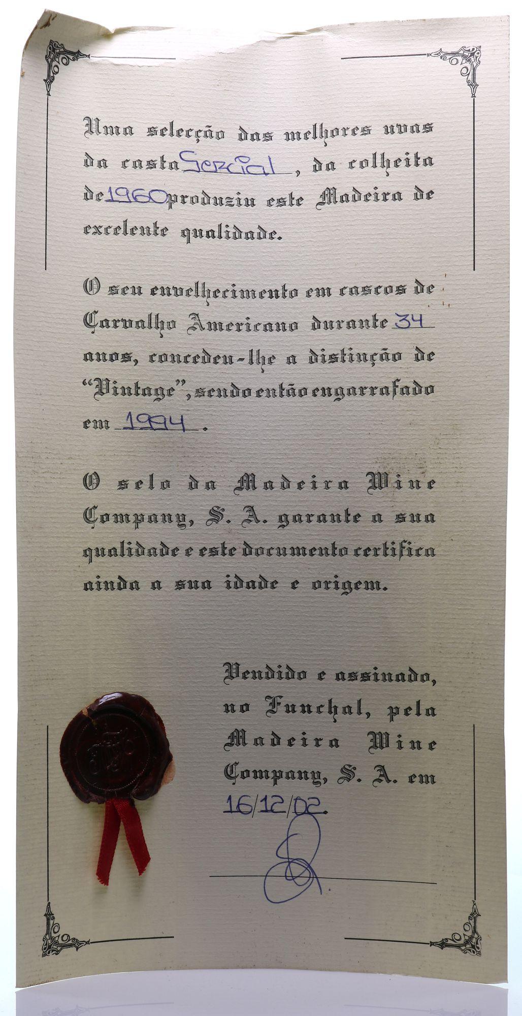 Madeira 1960 Cossart Sercial