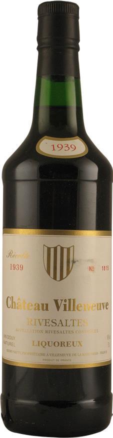 Wine 1939 Château Villeneuve (2560)