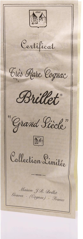 Cognac Brillet Grand Siècle Grande Champagne