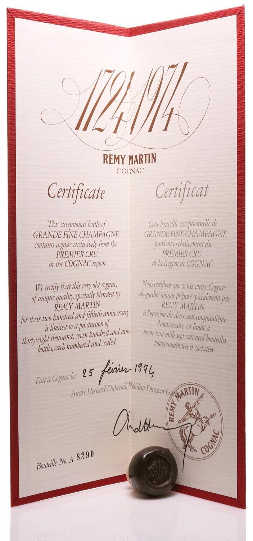 Cognac Rémy Martin 1724-1974