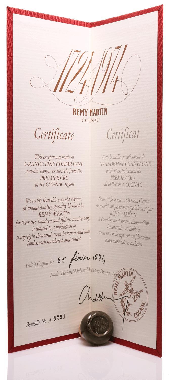 Cognac Rémy Martin 250th Anniversary