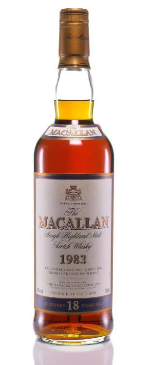 The Macallan 18 Year Old Single Malt Highland Scotch Whisky 1983