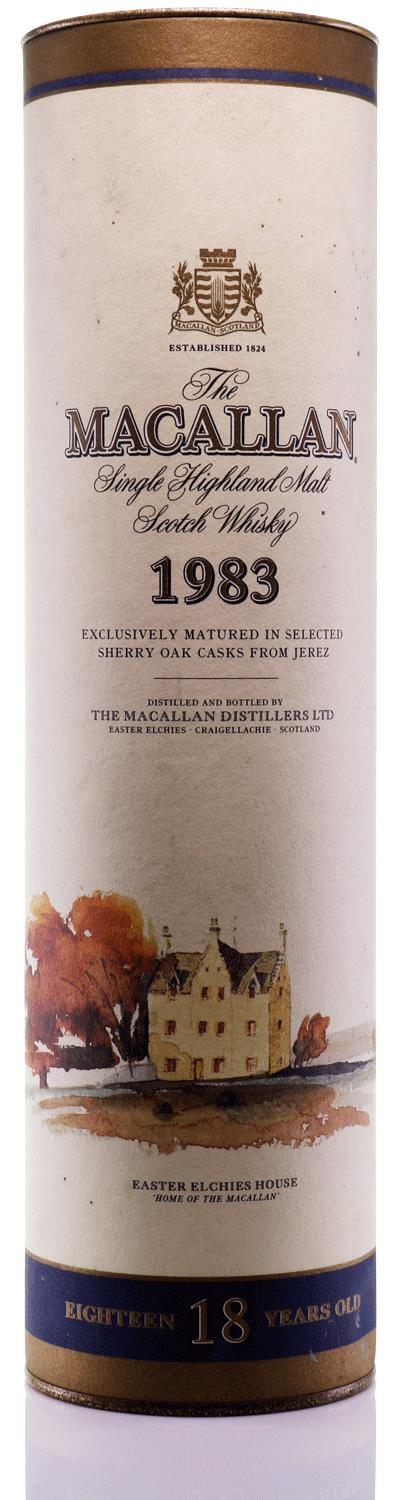 The Macallan 18 Year Old Single Malt Highland Scotch Whisky 1983